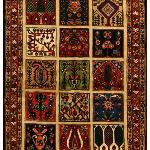 Persian Bakhtiari  Four Season design 100% Wool Pile.